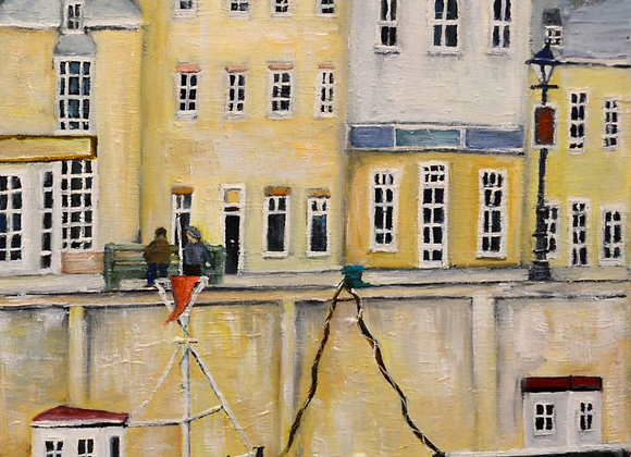 Chatting in Padstow   SOLD