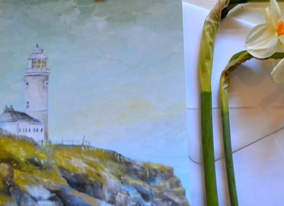 Trevose lighthouse Cornwall, card