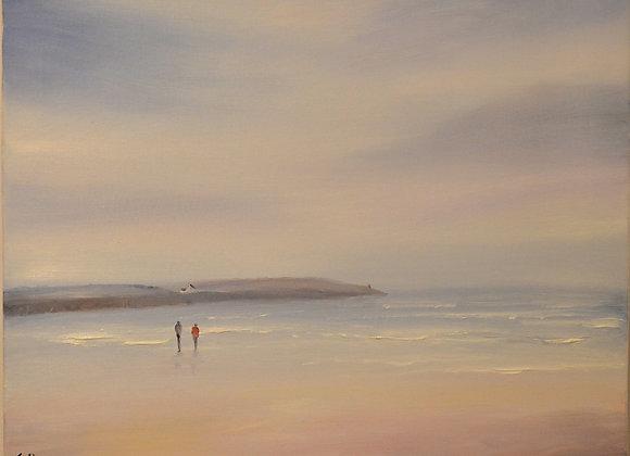 Misty Walk on Harlyn Bay