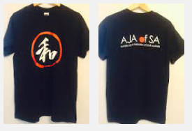 AJA Aprons and T-shirts