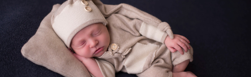 Newborn Boy Huck Finn Pose