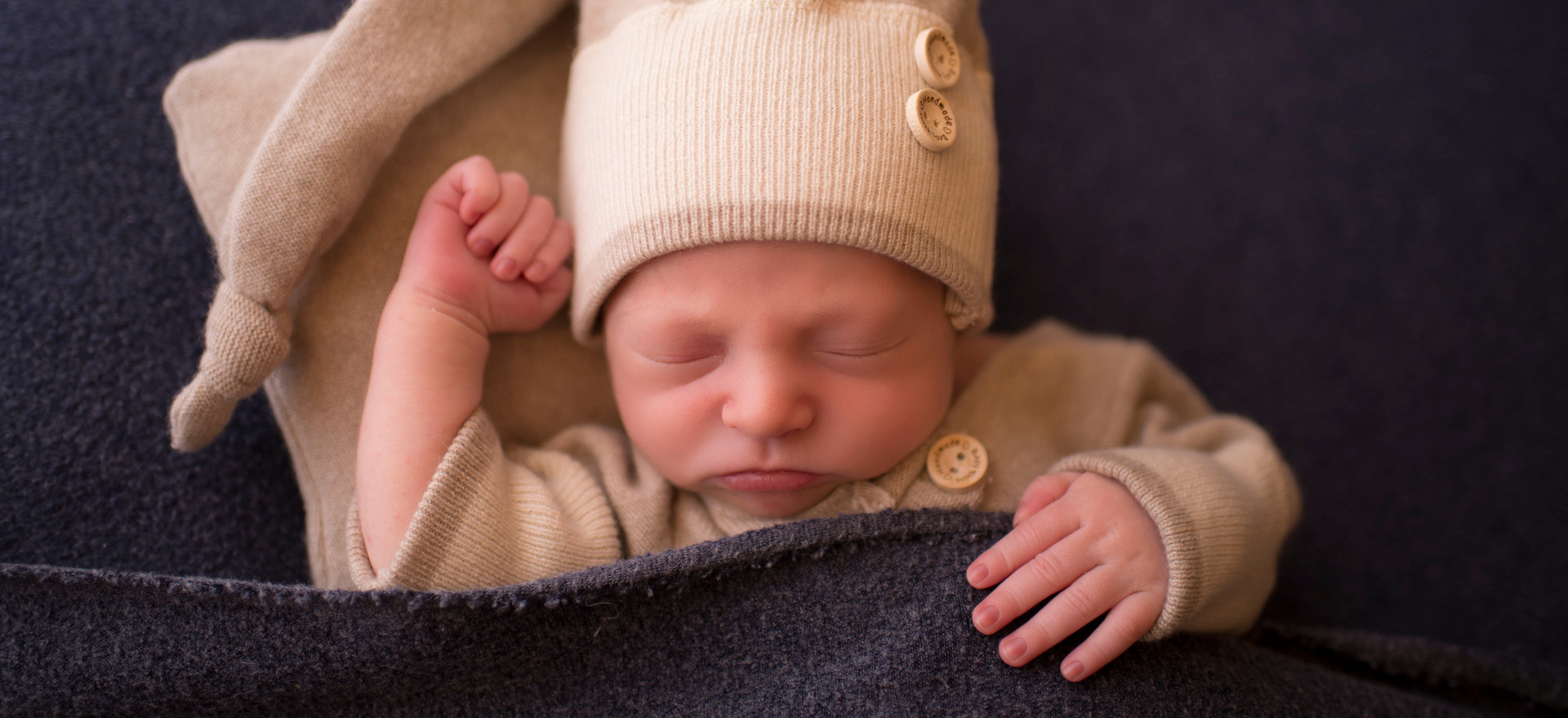 Newborn Boy sleepy time hat