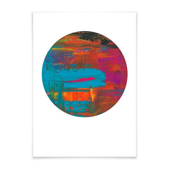 Abstract Blue rund