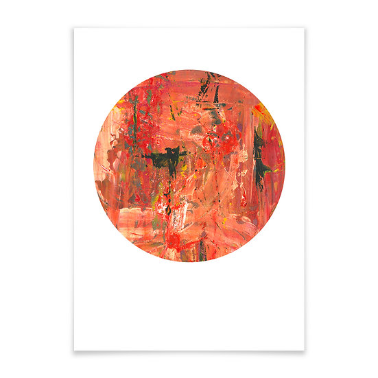 Abstract Red rund