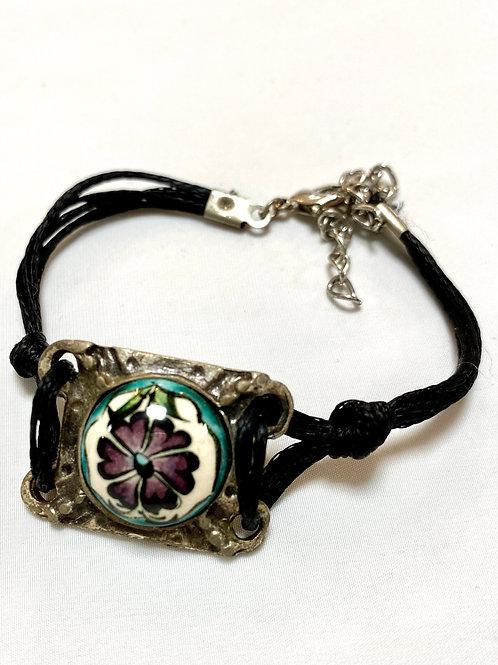 【送料無料】トルコ・キュタフヤ陶器アクセサリー ブレスレット Turkish Bracelet black01