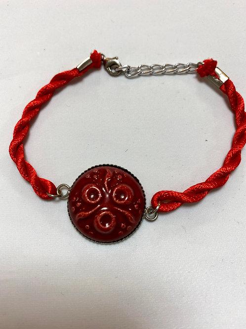 【送料無料】トルコ・キュタフヤ陶器アクセサリー ブレスレット Turkish Bracelet red02