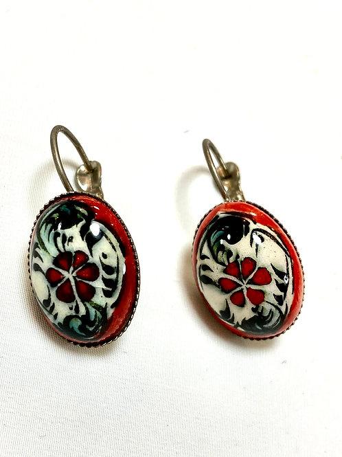 【送料無料】トルコ・キュタフヤ陶器アクセサリー ピアス Turkish pierce earrings
