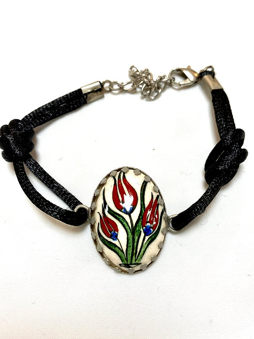 【送料無料】トルコ・キュタフヤ陶器アクセサリー ブレスレット Turkish Bracelet white01