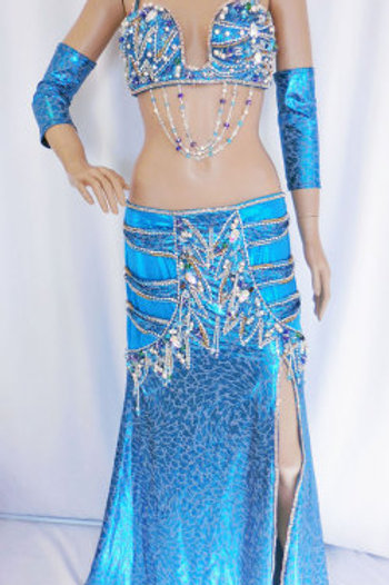 【ベリーダンス衣装 フルセット】Dunya】DB068 エジプシャン衣装