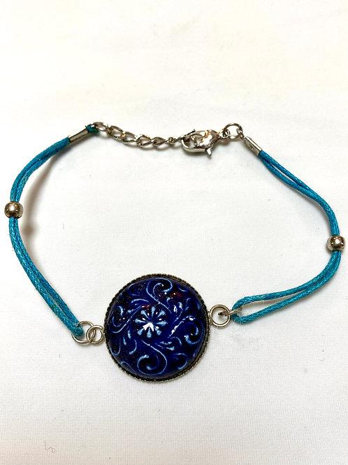 【送料無料】トルコ・キュタフヤ陶器アクセサリー ブレスレット Turkish Bracelet TB02