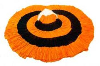 【ベリーダンス衣装】【トライバル・ジプシーに最適】18ヤード スカート オレンジ ミックス