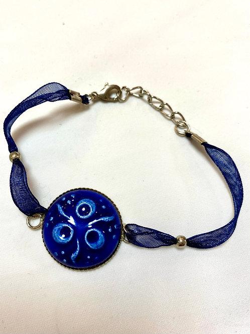 【送料無料】トルコ・キュタフヤ陶器アクセサリー ブレスレット Turkish Bracelet blue02