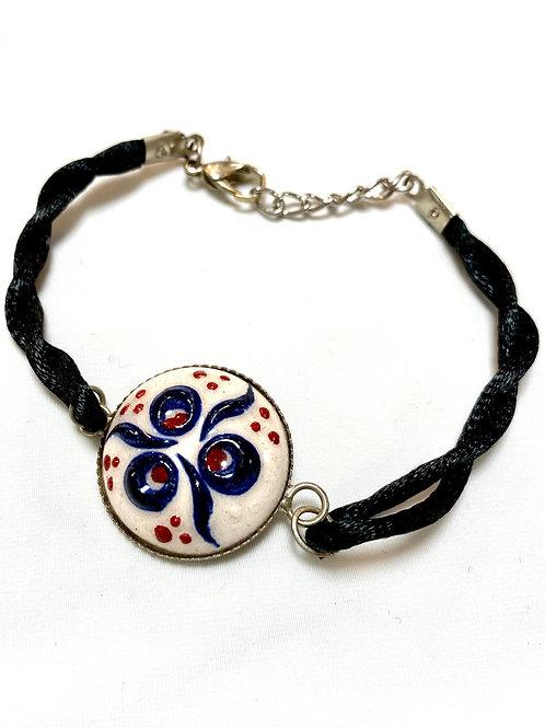 【送料無料】トルコ・キュタフヤ陶器アクセサリー ブレスレット Turkish Bracelet white02