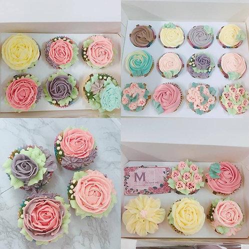 018款 立體花cupcake 12件