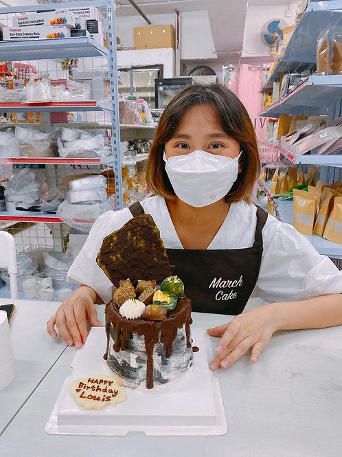 蛋糕教學 黑金雲石款