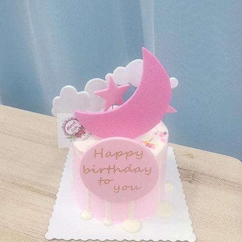 月亮蛋糕 (黃色 藍色 粉紅色)