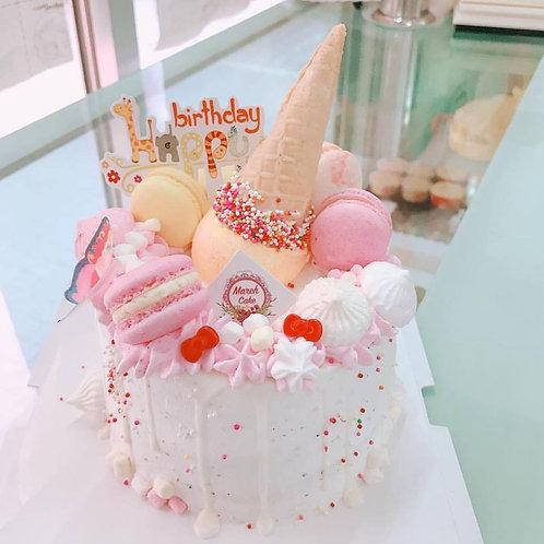 馬卡龍蛋白餅雪糕筒蛋糕