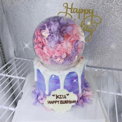 繡球花水晶球蛋糕