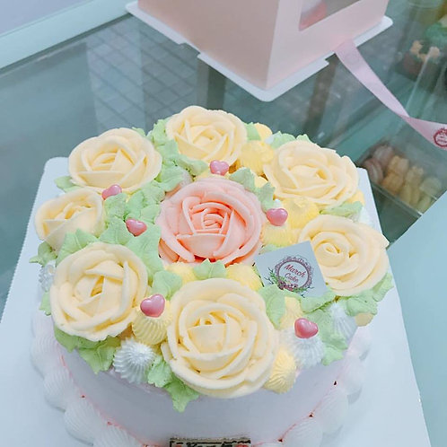 花蛋糕 忌廉唧花