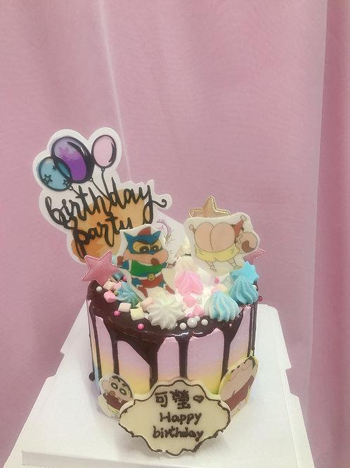 卡通彩虹蛋糕