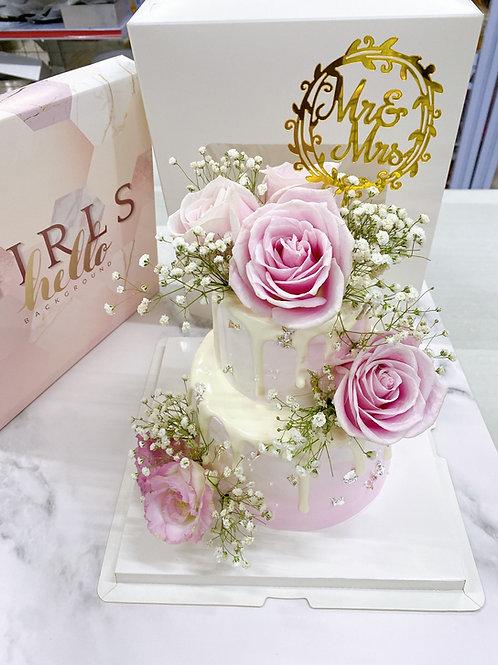 鮮花結婚蛋糕