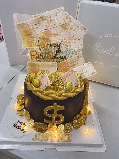 錢袋蛋糕  翻糖版