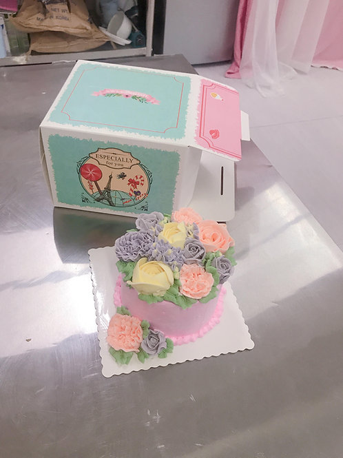 buttercream立體花蛋糕教學