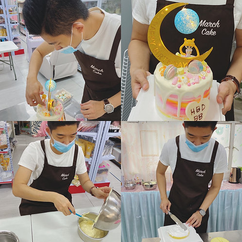 美少女戰士漸變月亮燈蛋糕