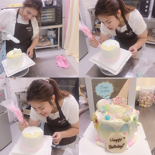 三色蛋糕雪糕筒教學