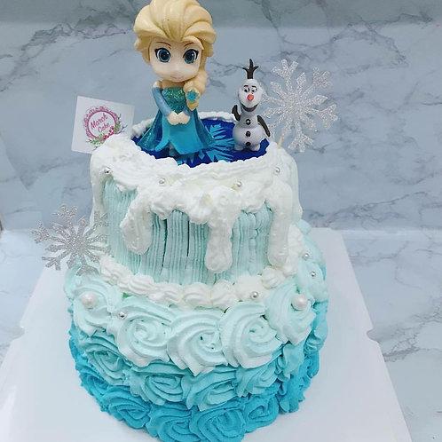 elsa雙層蛋糕