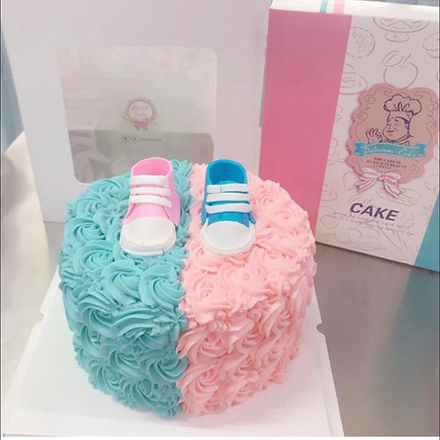 Gender cake with shoes
