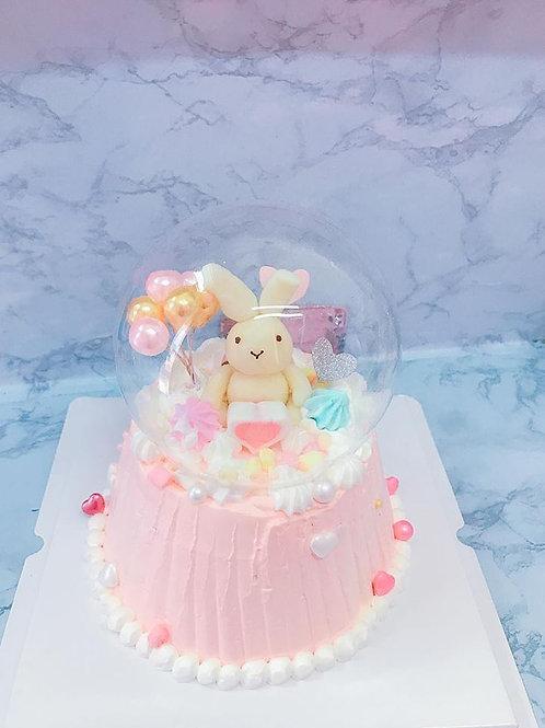 玻璃球兔兔蛋糕