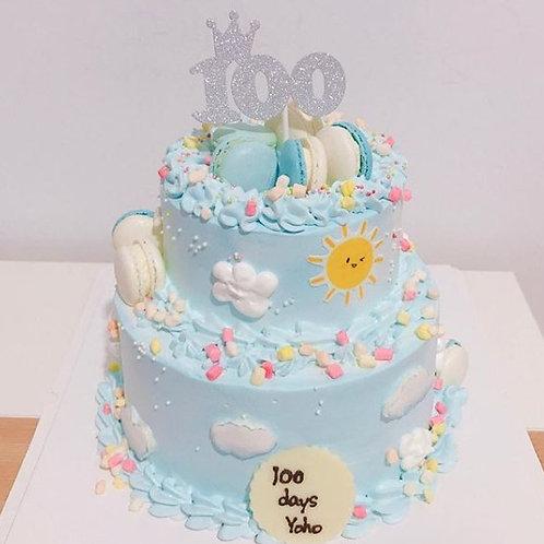 太陽白雲雙層蛋糕