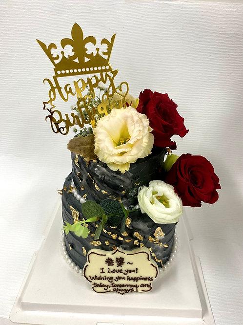 黑金玫瑰花珍珠款