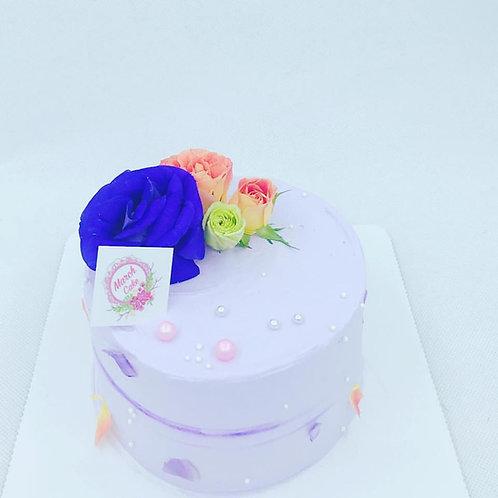 紫色珍珠鮮花款