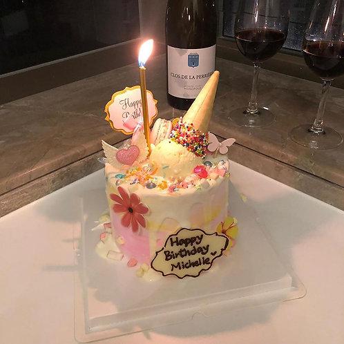 夢幻少女心雪糕筒蛋糕