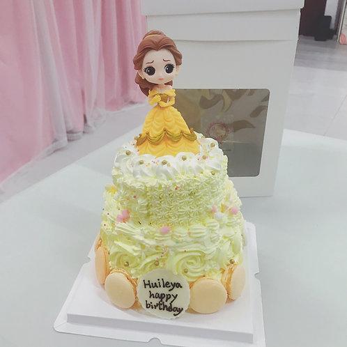 雙層公主蛋糕 貝兒
