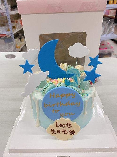 月亮星星雲蛋糕