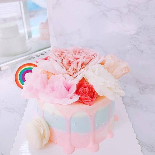 三色鮮花蛋糕