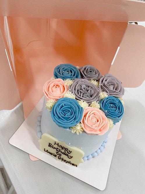 Buttercream 立體花蛋糕