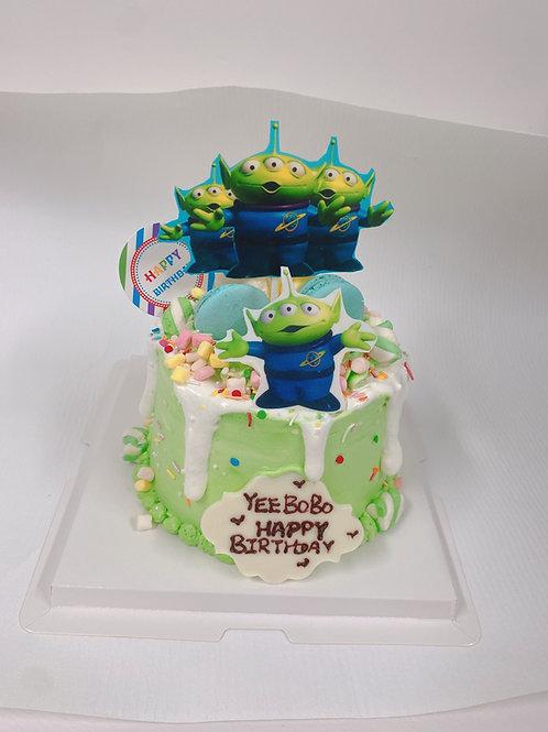 三眼仔蛋糕 食用糖皮印刷系列