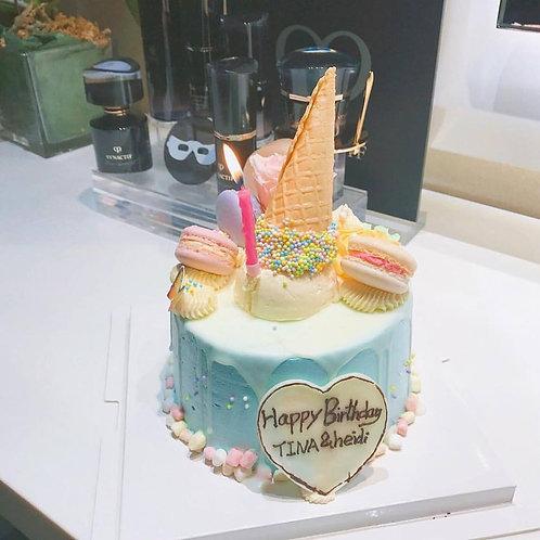 雪糕筒棉花糖蛋糕