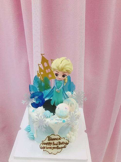 ELSA 公主城堡蛋糕