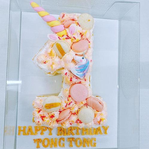 1歲數字蛋糕 獨角獸款