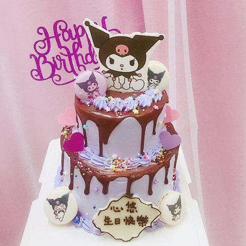 KURIMI 卡通雙層蛋糕 自選主題