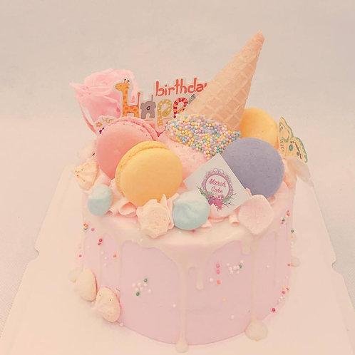 雪糕筒蛋白餅(永生花)蛋糕