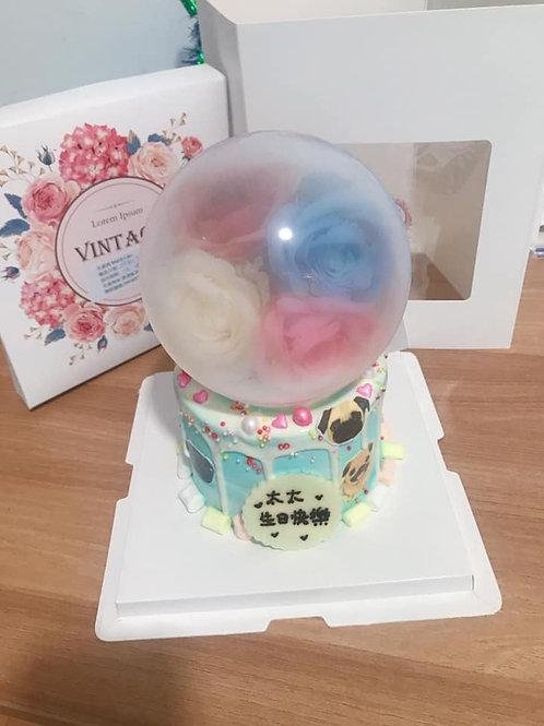 水晶球食用紙(自訂)蛋糕