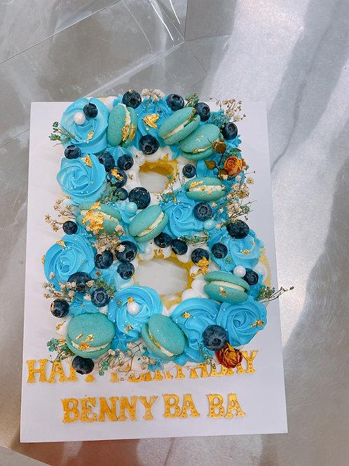 B字 字母蛋糕海綿蛋糕版