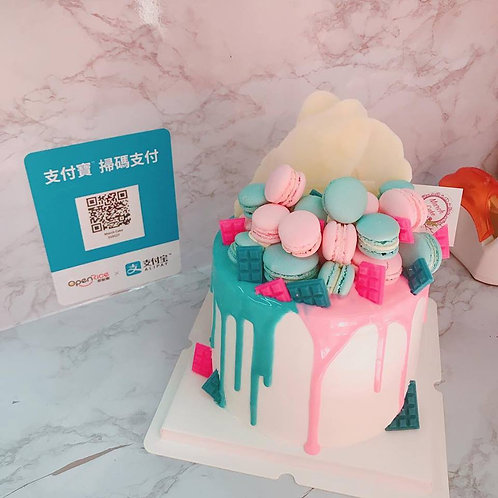 胎兒性別驚喜蛋糕 高身款 (粉紅色或粉藍色)