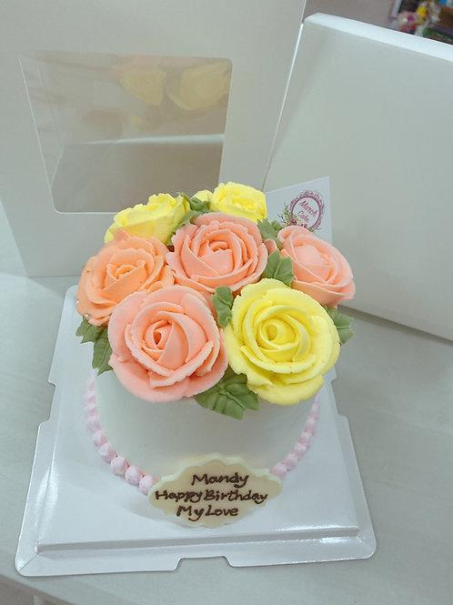 立體玫瑰花蛋糕 加高款